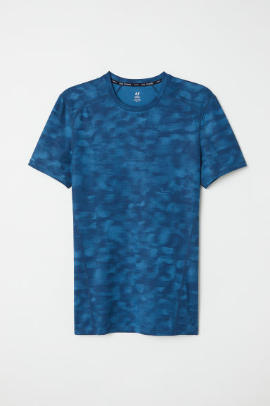 Short-sleeved sports top - Dark turquoise - Men | H&M CN