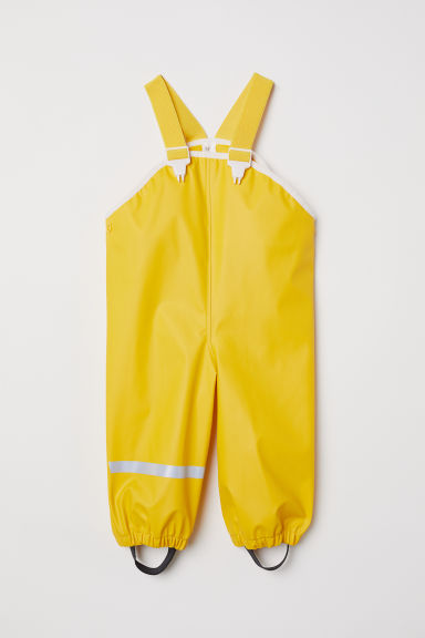 Rain trousers with braces - Yellow -  | H&M