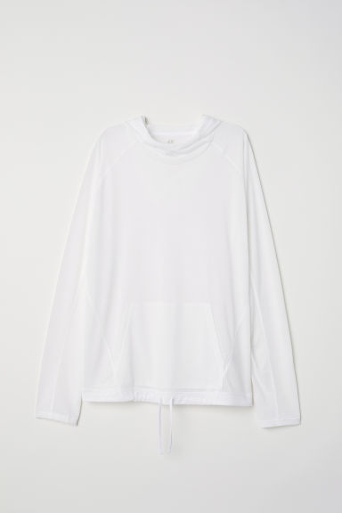Top training à capuche - Blanc -  | H&M FR