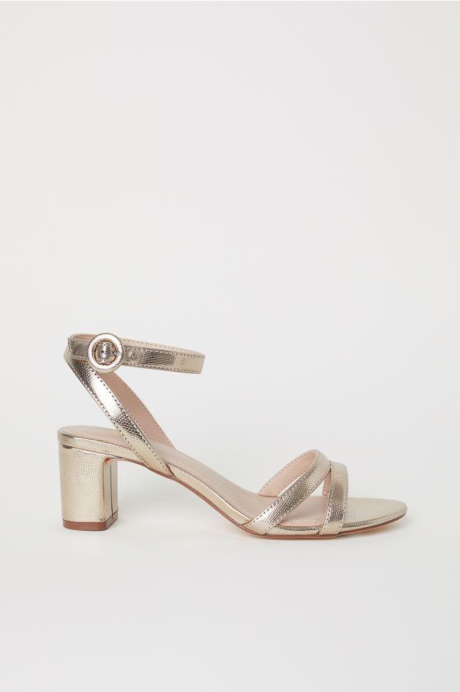 6229d161b89 Sandals - Gold-colored metallic - Ladies