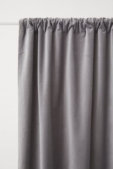 2-pack Velvet Curtain Panels - Light gray - Home All | H&M CA
