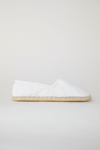 Espadrilles - White/Broderie anglaise - Ladies | H&M CN