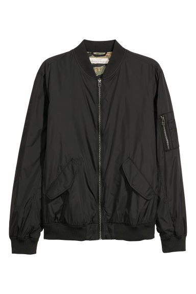 Nylon bomber jacket - Black -  | H&M