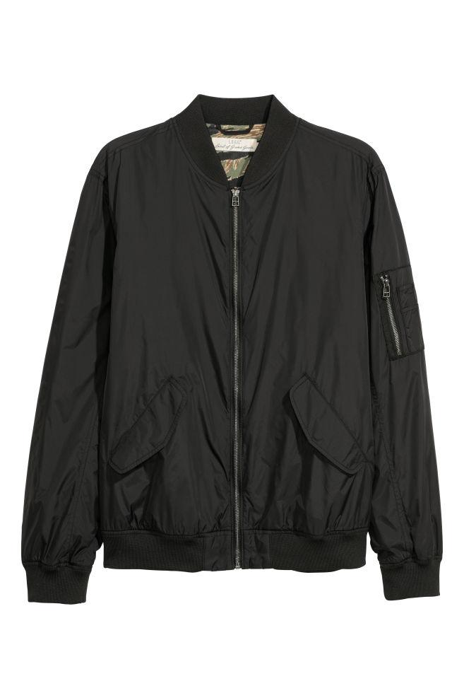 506c9a95a Nylon Bomber Jacket