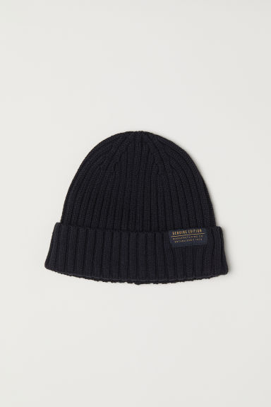 Rib-knit hat - Black - Men | H&M