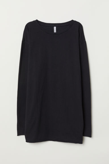 Oversized Jersey Top - Black -  | H&M CA