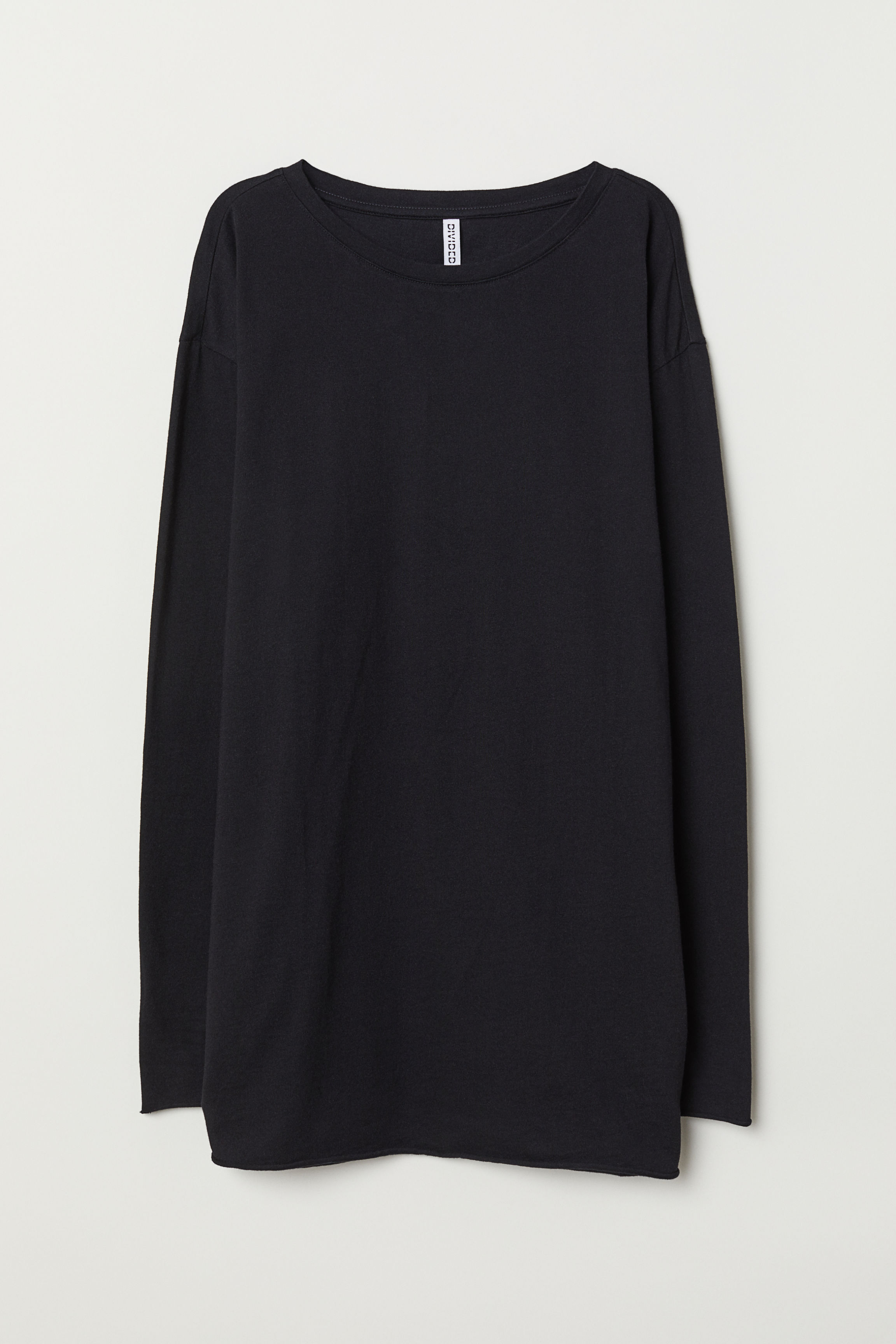 3a90be05b75b Oversized jersey top - Black - | H&M GB