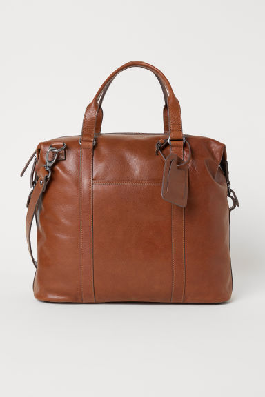 Leather bag - Cognac brown - Men | H&M