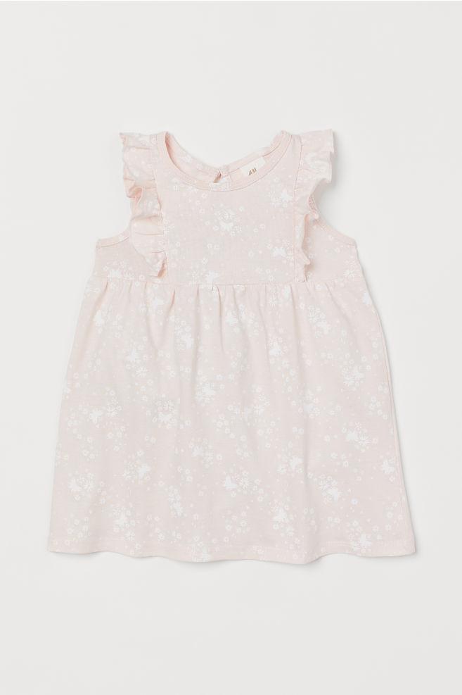 169a4d07e7 Mintás pamutruha - Világos rózsaszín/pillangók - GYEREK | H&M ...