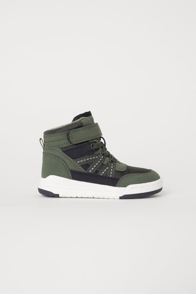 Hi-top trainers - Dark khaki green - Kids | H&M CN