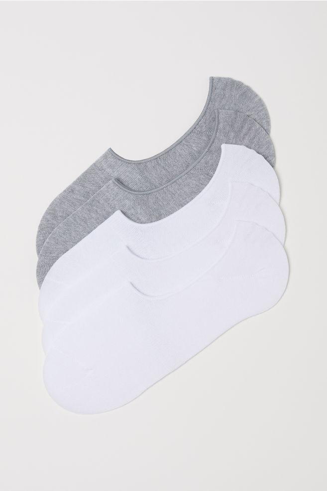 18f49774e 5-pack Ankle Socks - White - Men | H&M ...