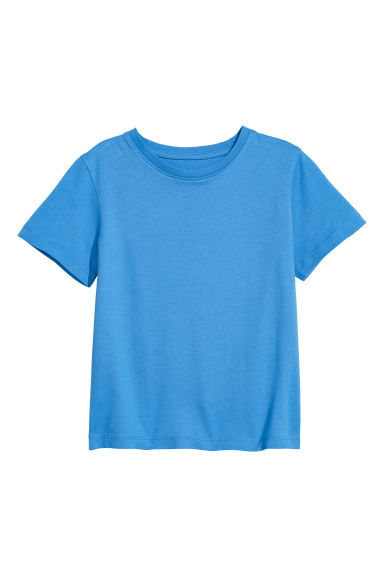 Cotton T-shirt - Blue -  | H&M CN