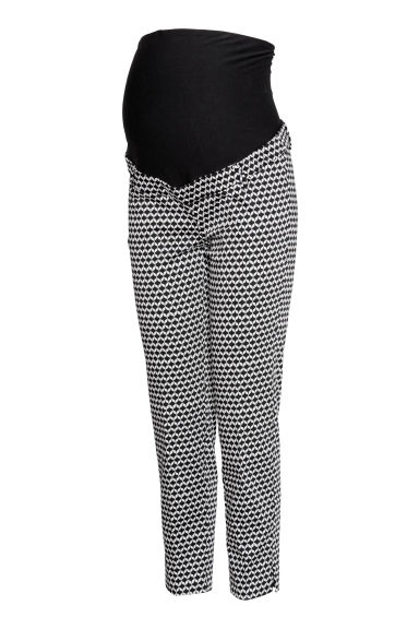 MAMA Cigarette trousers - Black/Patterned - Ladies | H&M