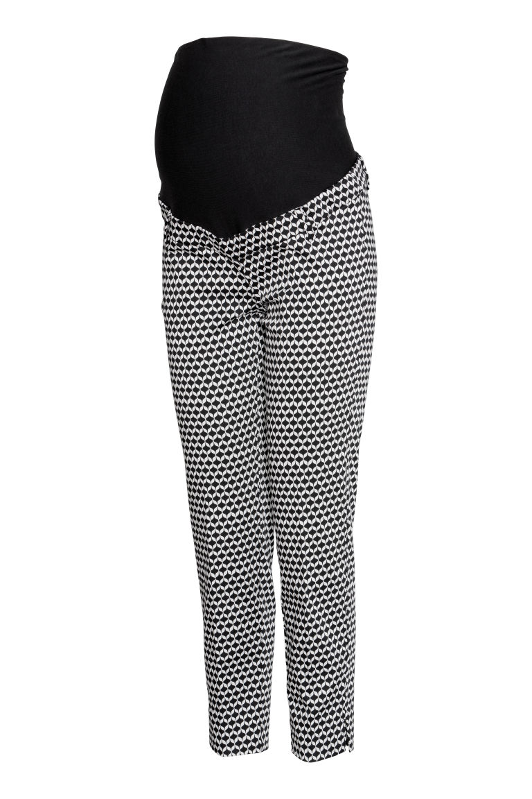 MAMA Cigarette trousers - Black/Patterned - Ladies | H&M GB