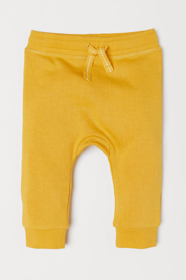 Cotton joggers - Yellow - Kids | H&M CN