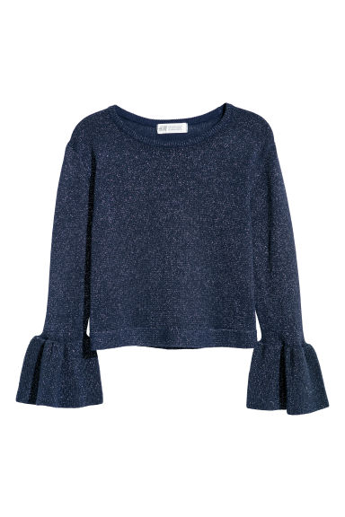 Knitted jumper - Navy blue/Glittery - Kids | H&M IE