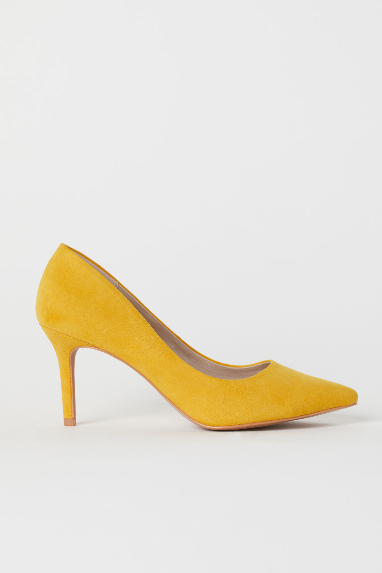 Court shoes - Yellow - Ladies | H&M CN