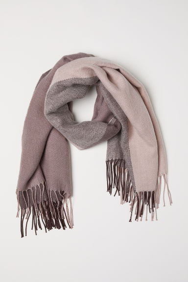 Jacquard-weave scarf - Pink/Brown - Ladies | H&M CN