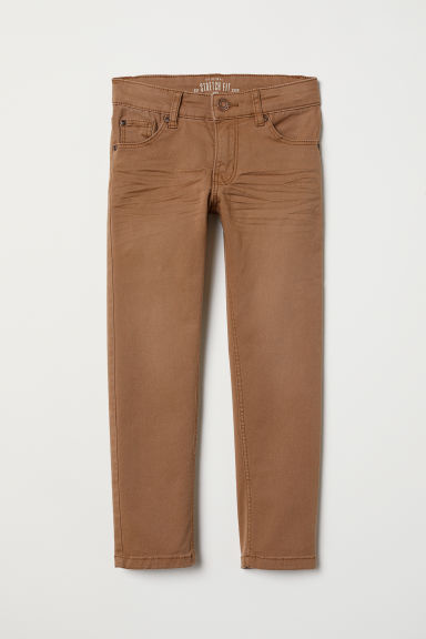 Stretch twill trousers - Rust brown - Kids | H&M