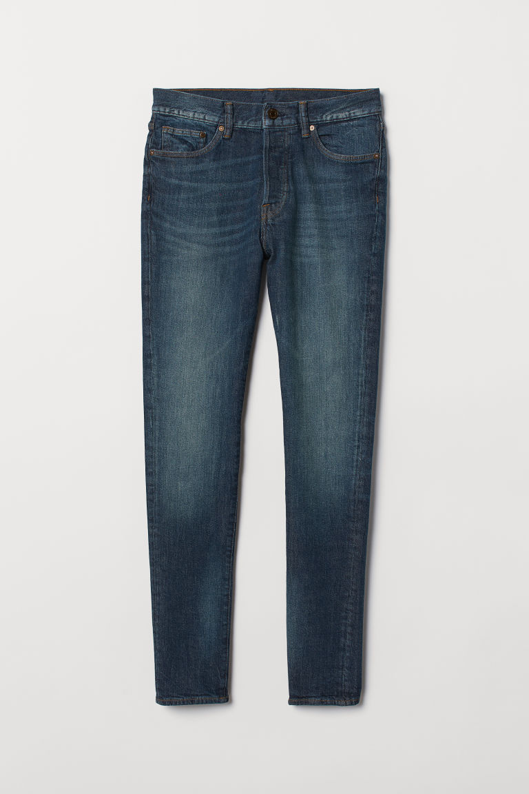 Skinny Carrot Jeans - Dark denim blue -  | H&M CN