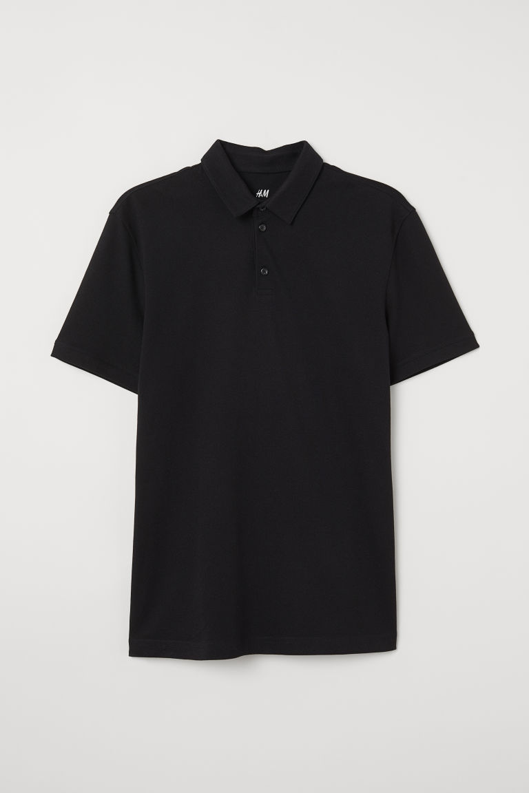 Katoenen polo - Zwart - HEREN | H&M BE