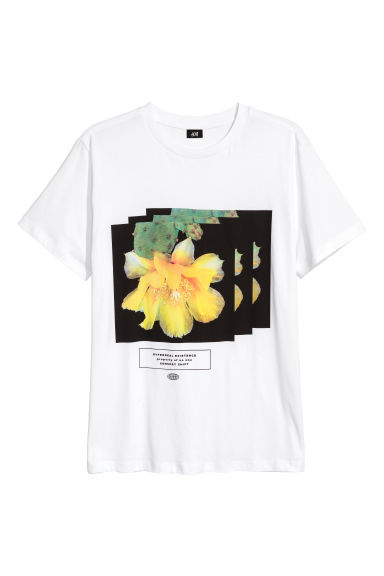 T-shirt with a print motif - White -  | H&M GB