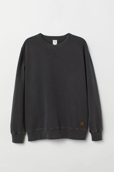 Relaxed-fit sweatshirt - Anthracite grey -  | H&M