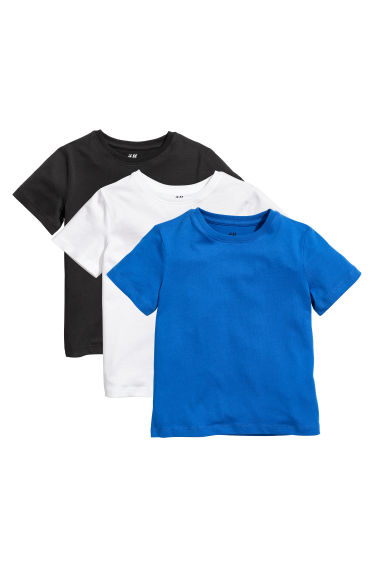 3-pack T-shirts - Bright blue - Kids | H&M