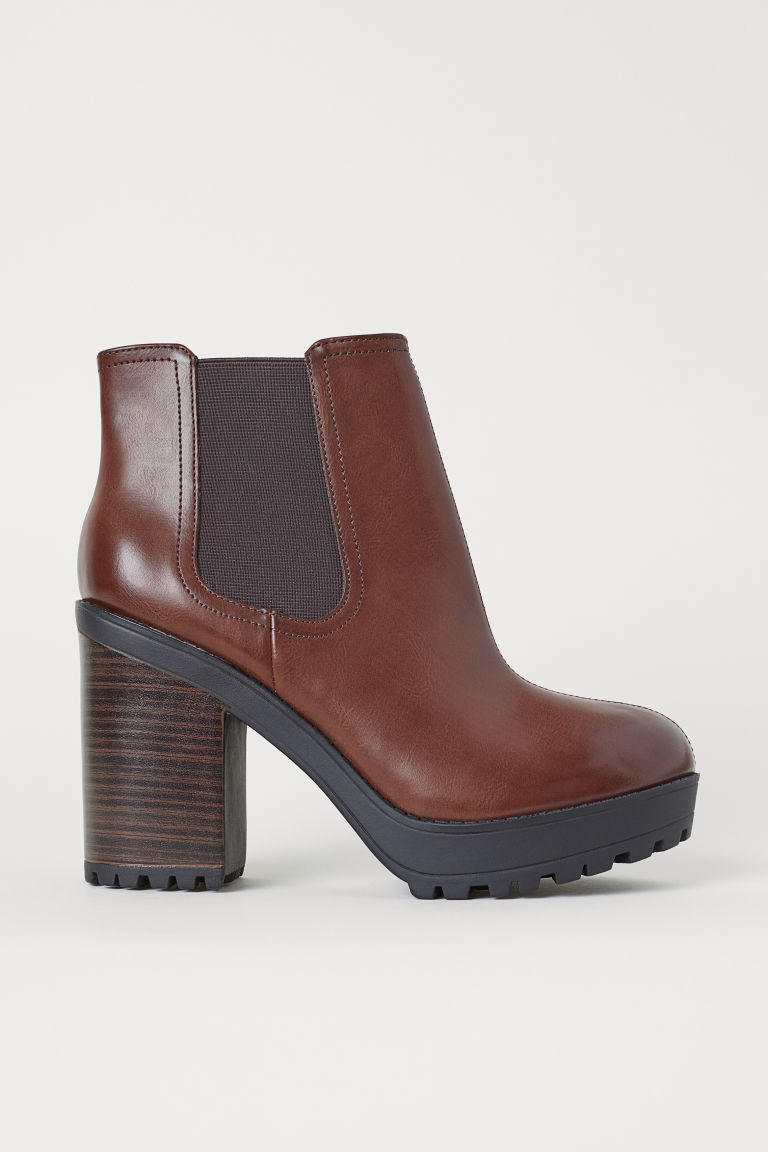 Ankle boots - Dark brown - Ladies | H&M GB