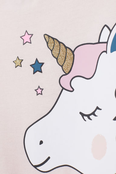 Jersey pyjamas - Light pink/Unicorn -  | H&M