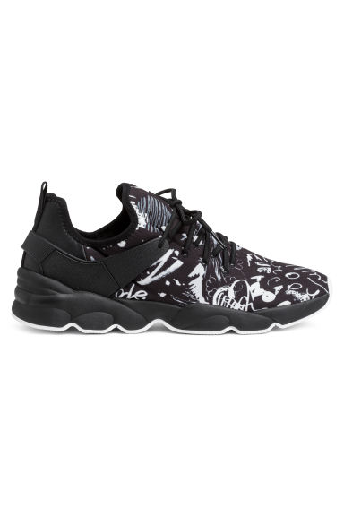 Mesh trainers - Black/White - Men | H&M