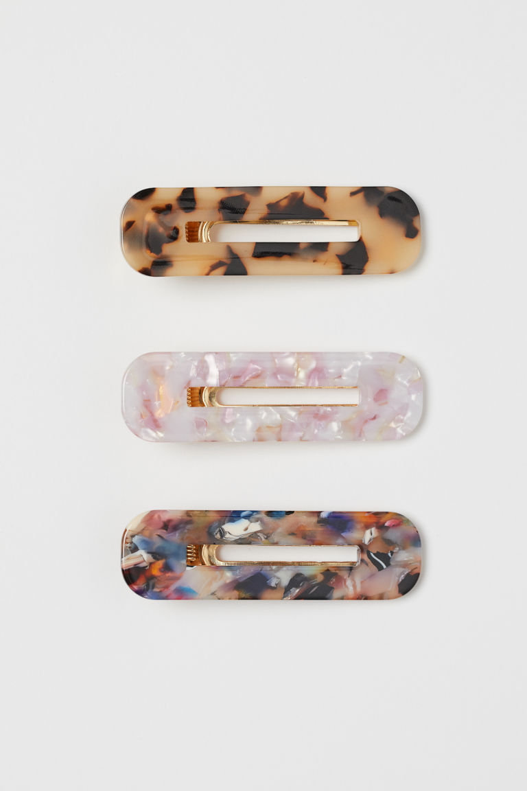 3-pack hair clips - Light pink/Beige - Ladies | H&M GB
