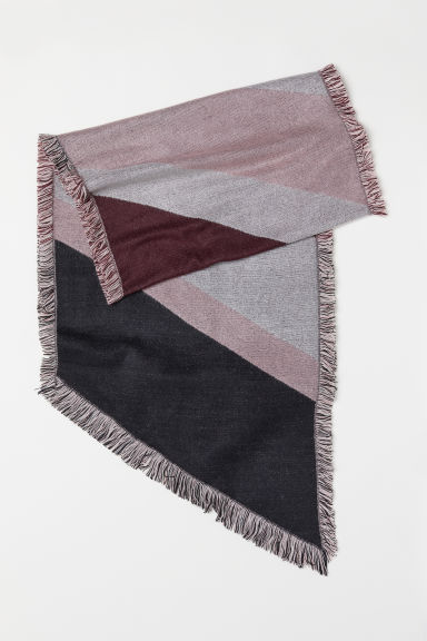Block-patterned scarf - Pink - Ladies | H&M