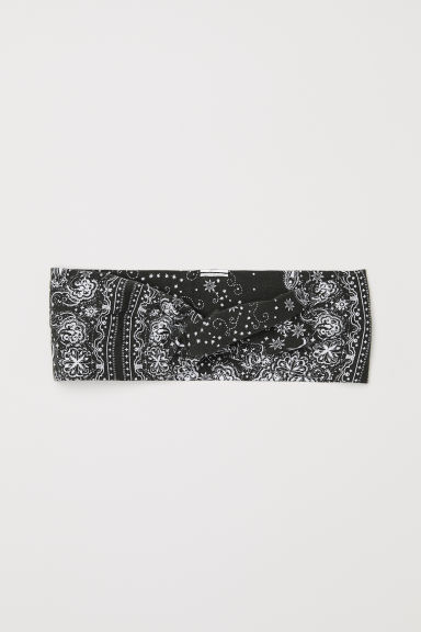 Patterned hairband - Khaki green - Ladies | H&M