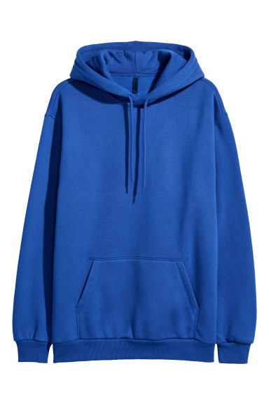 Hooded top - Bright blue - Men | H&M