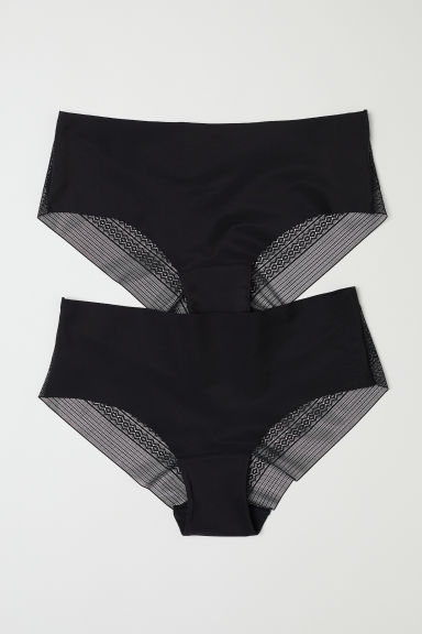 Pack de 2 bragas Hipster - Negro - MUJER | H&M ES