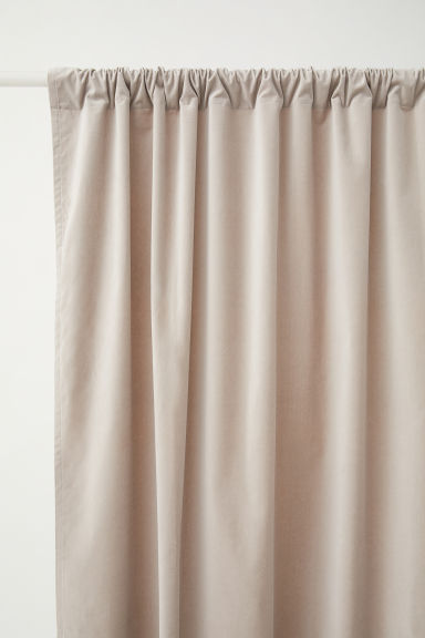 2-pack Velvet Curtain Panels - Light taupe - Home All | H&M CA