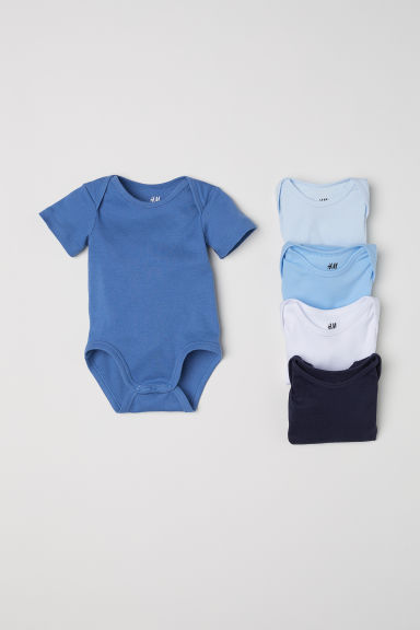5-pack bodysuits - Dark blue - Kids | H&M IE