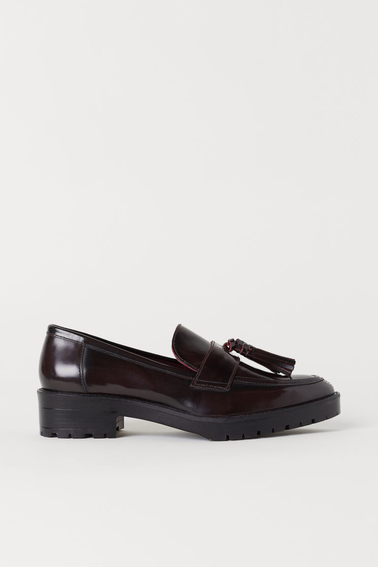 Leather loafers - Oxblood red - Ladies | H&M CN