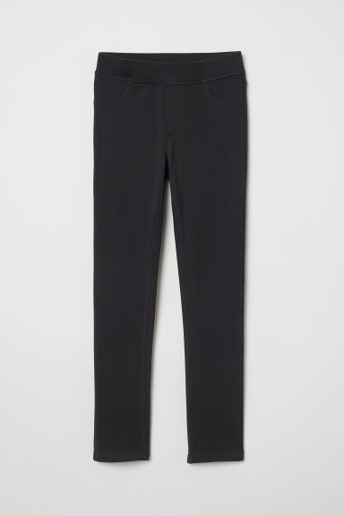 Cotton jersey treggings - Black - Kids | H&M CN