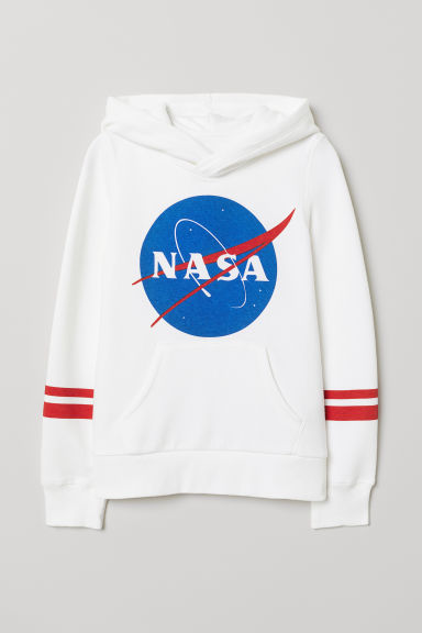 Hooded top with a motif - White/NASA -  | H&M IE