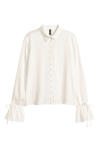 Crinkled blouse - White - Ladies | H&M