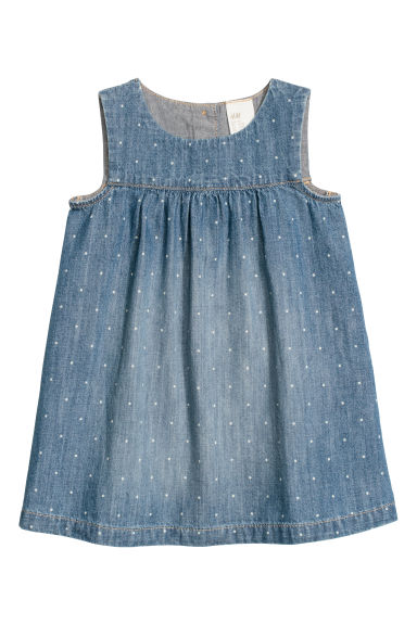 Denim dress - Denim blue/Spotted - Kids | H&M CN