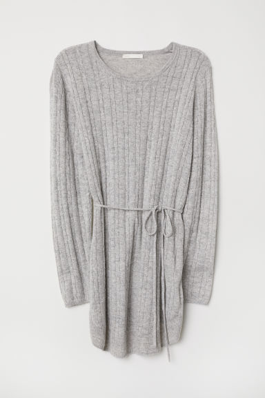MAMA Cable-knit Sweater - Light gray melange - Ladies | H&M US