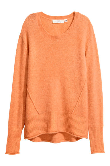 Knitted jumper - Orange -  | H&M