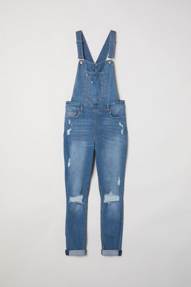 H&M+ Denim dungarees - Denim blue - Ladies | H&M