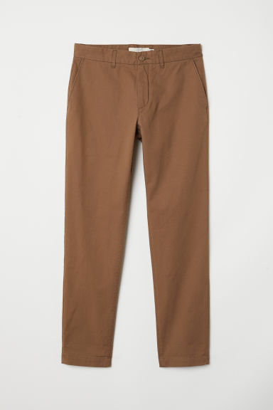 Cotton chinos Slim fit - Brown -  | H&M
