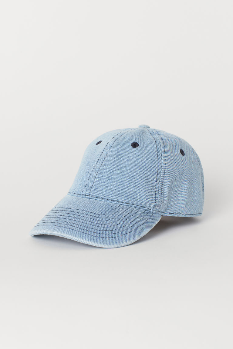 Washed cotton cap - Light blue -  | H&M