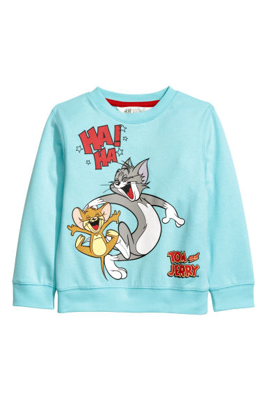 Sweater met print - Turkoois/Tom en Jerry -  | H&M BE