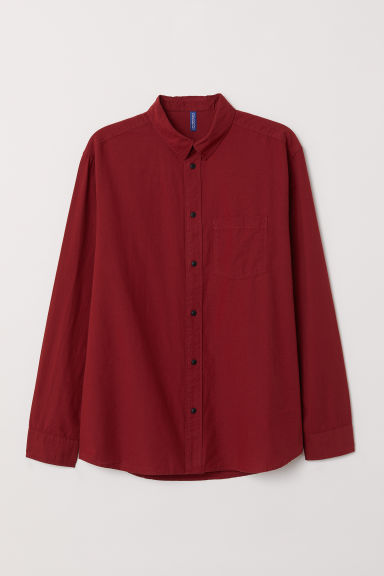 Shirt Regular Fit - Dark red - Men | H&M CN